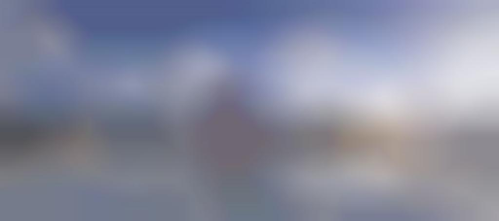 Skyline vanaf dak met spiegeling den haag
