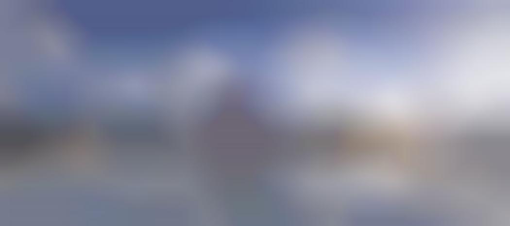 Skyline vanaf dak met spiegeling den haag ministerie van financieen.