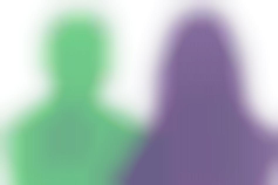 silhouetten paars groen vraaagtekens